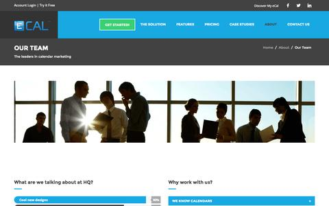 Screenshot of About Page Team Page ecal.net - Meet Our Team | ECAL - captured Oct. 22, 2014