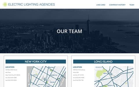 Screenshot of Team Page electriclighting.com - Team | Electric Lighting Agencies - captured Sept. 26, 2018