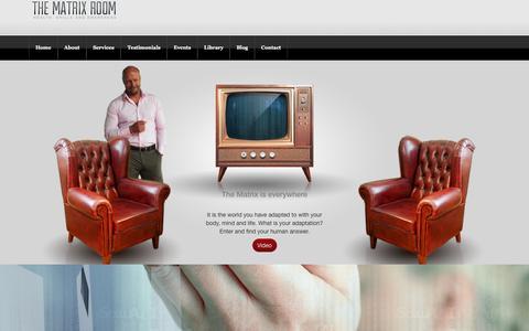 Screenshot of Home Page matrixroom.com - Home - Matrix Room - captured Nov. 27, 2016