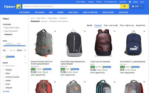 Screenshot of flipkart.com - Backpacks Online - Buy Backpacks For Men, Women, Girls & Boys online At Best Prices In India - Flipkart.com - captured June 3, 2017
