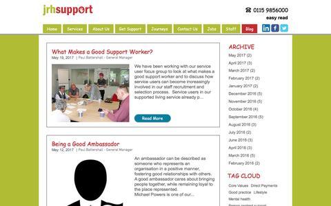 Screenshot of Blog jrhsupport.co.uk - JRH Support Blog - captured May 27, 2017