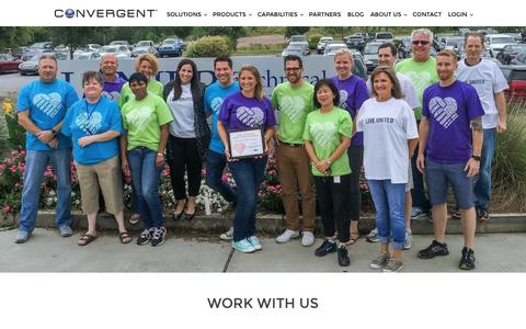 Screenshot of Jobs Page convergent.com - Careers - Convergent - captured Nov. 10, 2016