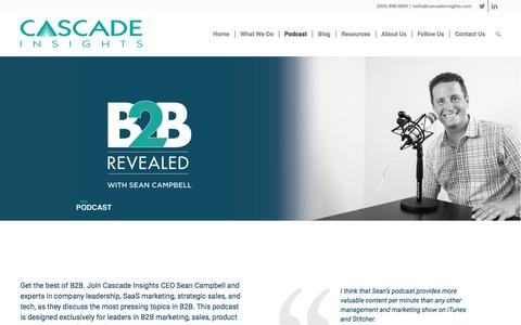 B2B Revealed Podcast - Cascade Insights