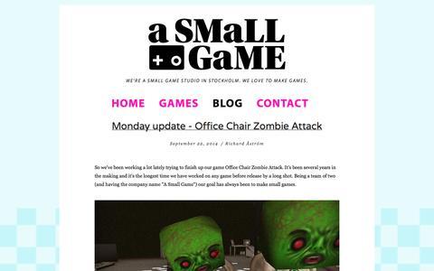 Screenshot of Blog asmallgame.com - Blog — A Small Game - captured Sept. 30, 2014
