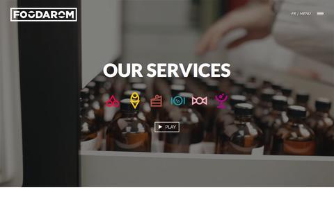 Screenshot of Services Page foodarom.com - Our services | Foodarom.com - captured March 1, 2016