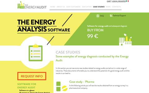 Screenshot of Case Studies Page the-energyaudit.com - Energy Diagnosis conducted by the Energy Audit - captured Oct. 7, 2014