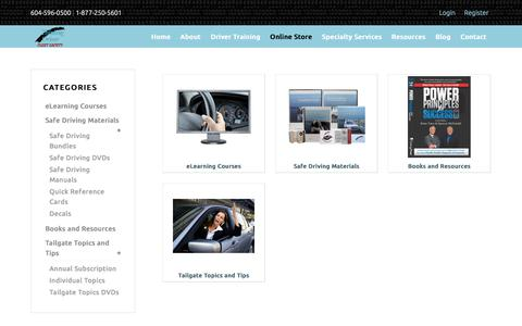 Screenshot of Products Page thinkingdriver.com - Store | Thinking Driver - captured Nov. 17, 2017