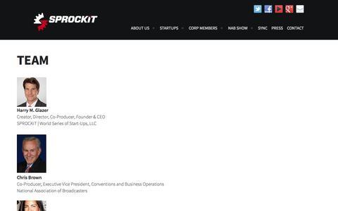 Screenshot of Team Page sprockitglory.com - Team | Sprockit - captured Oct. 3, 2014