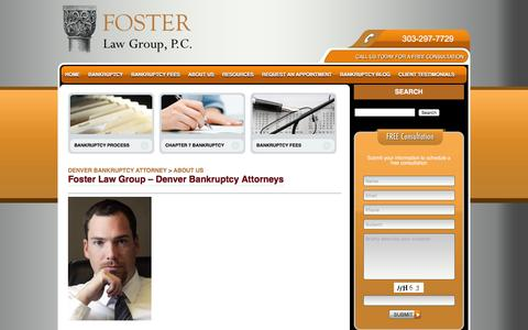 Screenshot of About Page denver-bankruptcy-lawyer.com - About Us - Denver Bankruptcy Attorney - captured Feb. 10, 2016