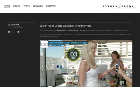 Screenshot of Press Page jordanfreda.com - NEWS — Jordan Freda Company - captured Oct. 6, 2014