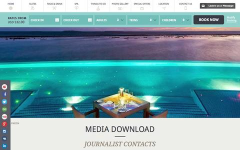 Screenshot of Press Page hideawaybeachmaldives.com - Media & Press | Hideaway Beach Resort & Spa Maldives - captured Aug. 6, 2016