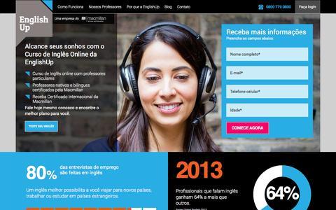 Screenshot of Home Page englishup.com.br - Aprenda inglês online - EnglishUp - captured Sept. 16, 2014