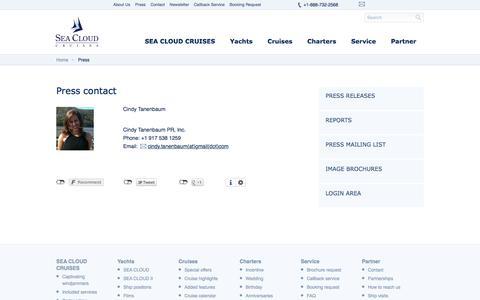 Screenshot of Press Page seacloud.com - Press - SEA CLOUD CRUISES - captured Sept. 24, 2018
