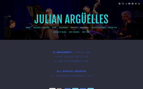 Screenshot of Team Page julianarguelles.com - Julian Argüelles - Contact / Bookings - captured Dec. 1, 2018