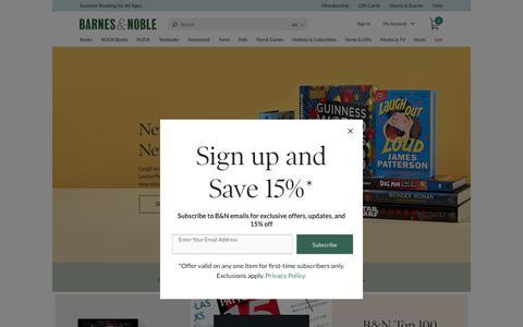 Screenshot of Home Page barnesandnoble.com - Online Bookstore: Books, NOOK ebooks, Music, Movies & Toys | Barnes & Noble® - captured Sept. 2, 2017