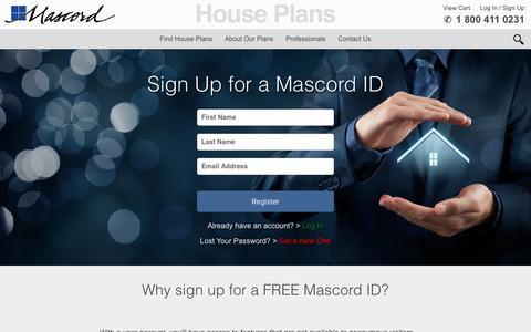 Screenshot of Signup Page houseplans.co - User Registration - captured Nov. 13, 2016