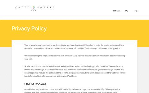 Privacy Policy | Cutty Powers