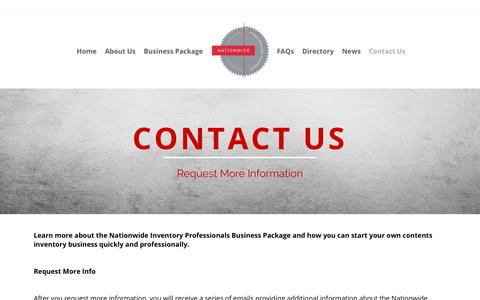 Screenshot of Contact Page nationwideinventoryprofessionals.com - Contact us, home inventory | Nationwide Inventory Professionals - captured Nov. 5, 2017