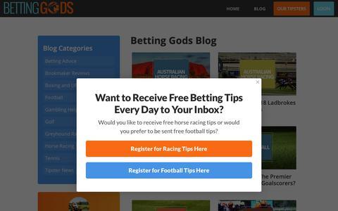 Screenshot of Blog bettinggods.com - Betting Gods Blog | Betting Gods - captured Oct. 24, 2018