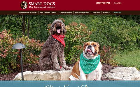 Screenshot of About Page smartdogstrainingandlodging.com - About Smart Dog In-home Training, Dog Training Camp and Boarding - captured Oct. 20, 2018
