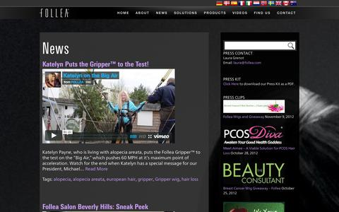 Screenshot of Press Page follea.com - News | FOLLEA - captured Nov. 3, 2014