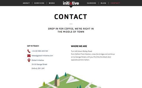 Screenshot of Contact Page global-initiative.com - Contact | Global Initiative | Global Initiative - captured Nov. 8, 2016