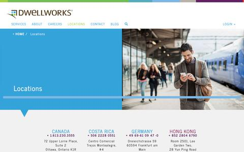 Screenshot of Locations Page dwellworks.com - Locations | Relocation Support Services| Dwellworks - captured June 5, 2017