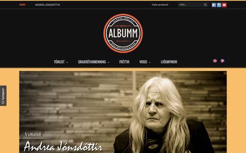 Screenshot of Home Page albumm.is - Albumm - Íslensk tónlist, hjólabretti, snjóbretti og hjól - captured Sept. 3, 2015