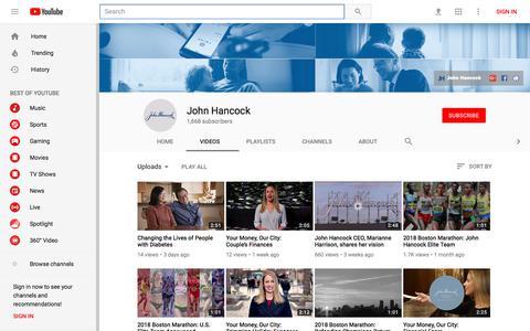 John Hancock - YouTube - YouTube