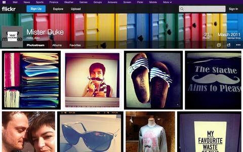 Screenshot of Flickr Page flickr.com - Flickr: mister_duke's Photostream - captured Oct. 26, 2014