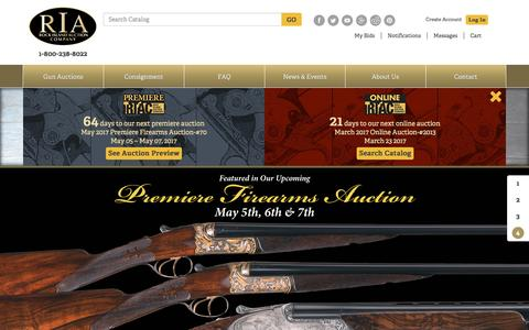 Screenshot of Home Page rockislandauction.com - Antique Firearms Auction House Rock Island - captured March 1, 2017
