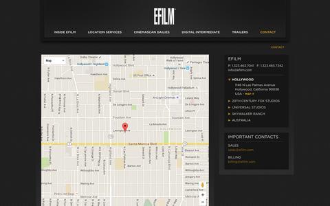 Screenshot of Contact Page efilm.com - EFILM / Contact - captured Dec. 6, 2015