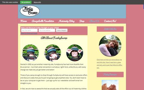 Screenshot of About Page funkybumpmaternity.com - All About Funkybump - Funkybump Maternity - captured Oct. 29, 2014