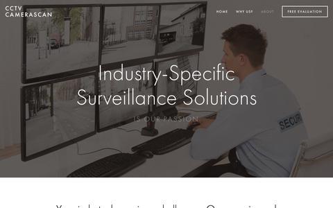 Screenshot of About Page cctvcamerascan.com - About — CCTV Camerascan - captured Nov. 4, 2018