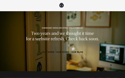 Screenshot of Home Page byhumanhand.com - Humanhand  ›  Design Consultancy  ›  Honolulu - captured Jan. 29, 2015