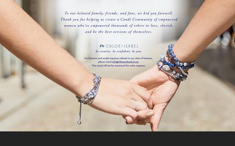 Screenshot of Home Page chloeandisabel.com - Goodbye from Chloe & Isabel - captured Aug. 2, 2019