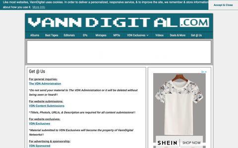 Screenshot of Contact Page vanndigital.com - Get @ Us • VannDigital - captured Sept. 22, 2018