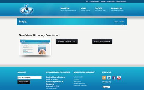 Screenshot of Press Page ptcdental.com - Media Downloads  |  PTC Dental - captured Sept. 27, 2014