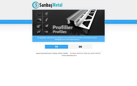 Screenshot of Home Page saribas.com.tr - SARIBAŞ GALVANIZ METAL - captured Oct. 3, 2014