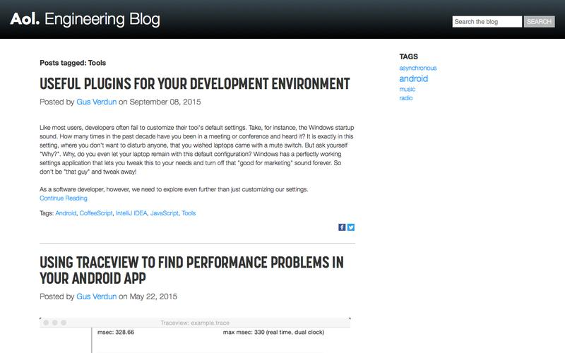 Tools Articles on AOL Engineering Blog
