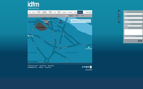 Screenshot of Contact Page Maps & Directions Page idfmcity.co.uk - Contact IDFM (City) Ltd - captured Oct. 23, 2014