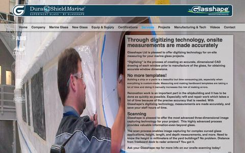 Screenshot of Services Page durashieldmarine.com - Digitizing Onsite Measuring | United States | DuraShield Marine - captured Oct. 5, 2014