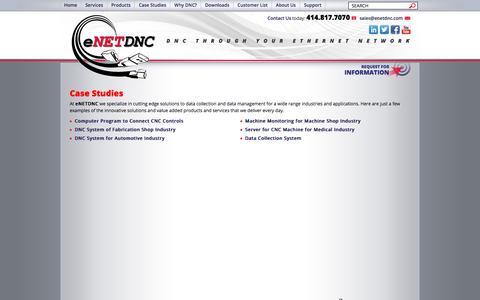 Screenshot of Case Studies Page enetdnc.com - Case Studies - eNETDNC - captured July 18, 2016