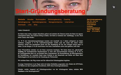 Screenshot of Home Page start-gruendungsberatung.de - Startseite - start-gruendungsberatung - captured March 26, 2017