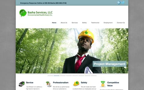 Screenshot of Home Page bashaservices.com - Basha Services - captured Oct. 5, 2014
