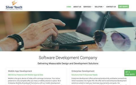 Screenshot of Home Page silvertouch.com.au - Software Development Company Melbourne, Sydney | Software & Web Development Services - captured Dec. 19, 2016