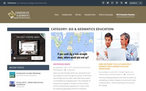 GIS & Geomatics Education | Canadian GIS & Geomatics
