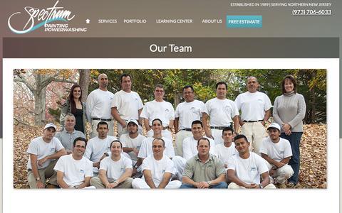 Screenshot of Team Page spectrumpaintingllc.com - Our Team | Spectrum Painting - captured Feb. 17, 2016