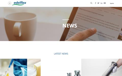 Screenshot of Press Page edelflex.com - News | Edelflex - captured July 16, 2018