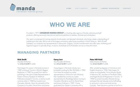 Screenshot of Team Page mandagroup.com - WHO WE ARE — Manda Group - captured Sept. 26, 2018